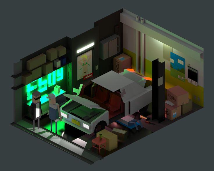 PolyLOL Garage 24k - Looks like eBoy is going 3D now.