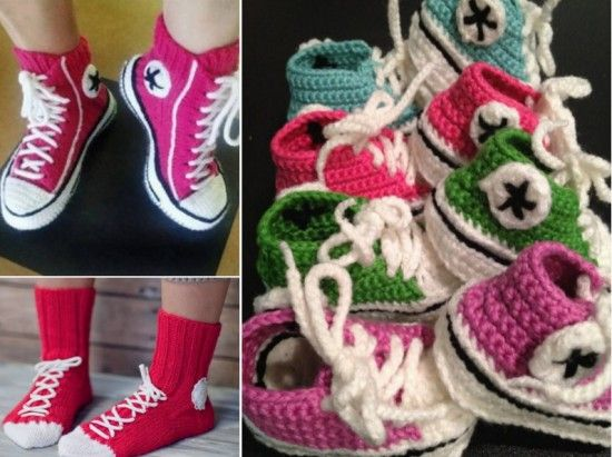 Converse Crochet Slippers and Booties