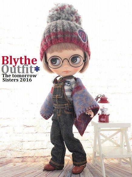 ◆Blythe Outfit◆ブライス♪TTYAオーバーオール7点set NO69_本体・眼鏡・木製台は付属しません。