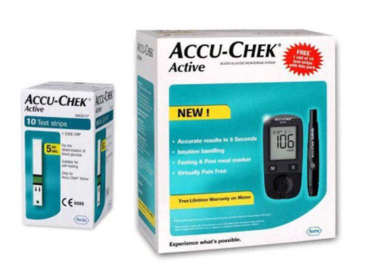 ACCU-CHEK GLUCOSE MONITOR ACTIVE METER BLOOD ACCUCHEK TEST VIRTUALLY ACCU CHEK #AccuChek