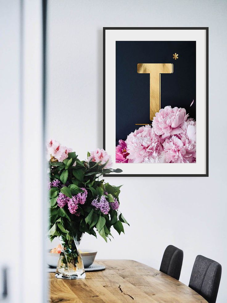 Wandbilder Mit Buchstaben T Pfingstrosen Alphabet Als