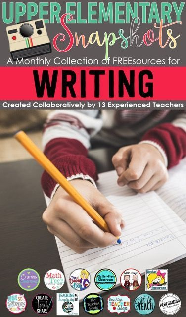 Writing resources for elementary teachers