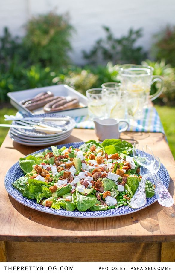 Ultimate Braai Day Salad {Recipe} | Recipes | The Pretty Blog...minus the bacon...olives??