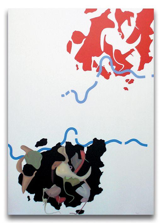 Eclissi, acrilici su tela, cm 100x70, 1988