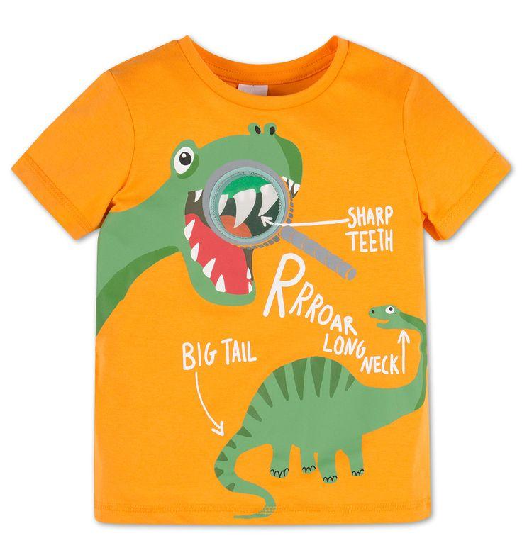 Shirt met korte mouwen in oranje - maat 104