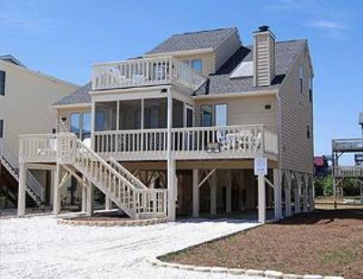 Sunset Properties' Fidelle's Folly is a 2nd Row vacation rental House. Located in Sunset Beach, NC, this 4BR, 2 BA property has so much to offer! Choose Sunset Properties to help you plan your perfect vacation.