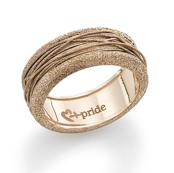intricate and inimitable this handcrafted pink gold ring boasts a spun string like pattern with a glittering sandblast finish weighing of gold this - Egyptian Wedding Rings