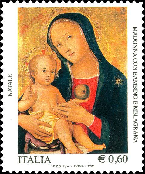Italy Stamp 2011 - Madonna & Child