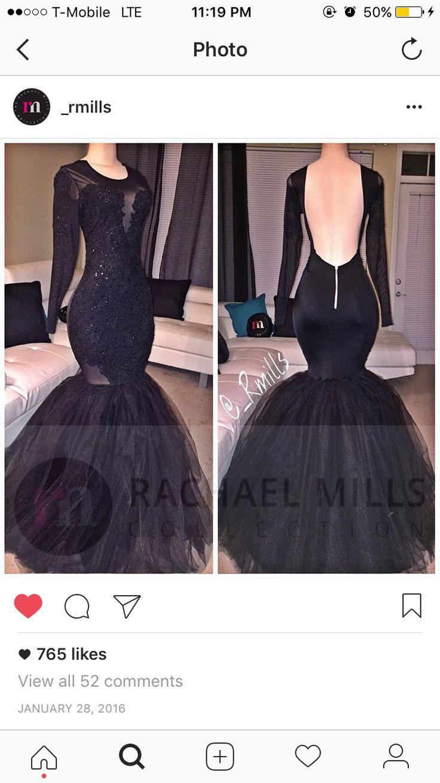 Black dress goals - Backless