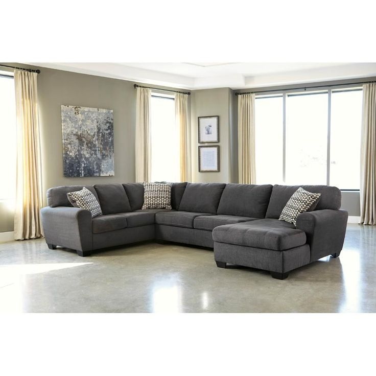 Sofas For Sale The Sorenton Piece Sectional from Ashley Furniture es in dark charcoal gray Features sofa