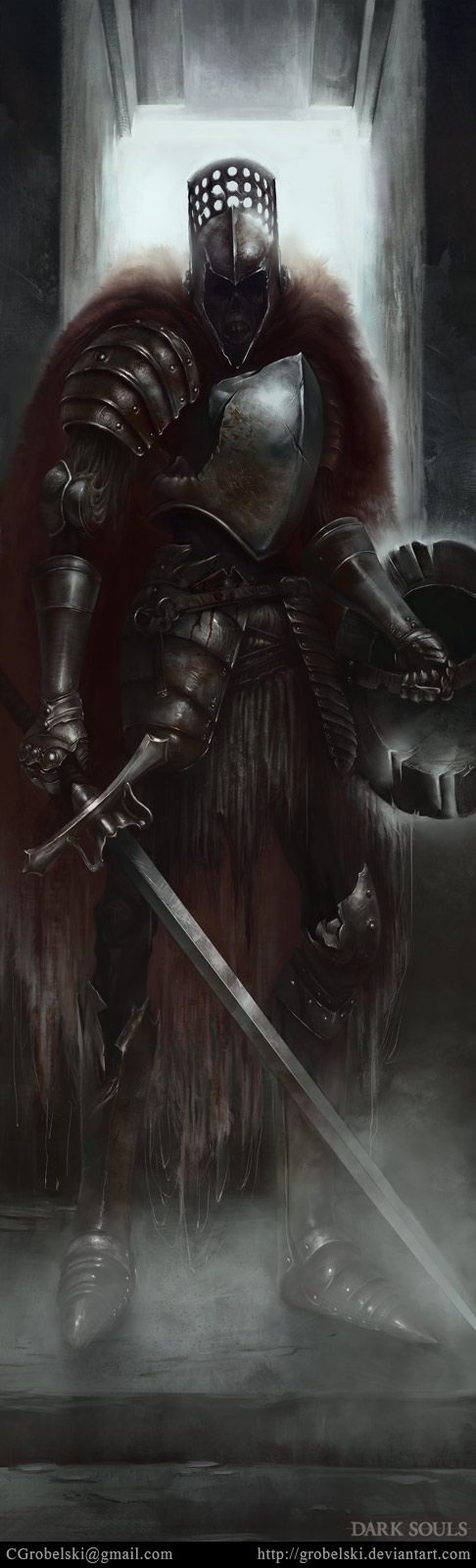 dark souls fanart by Grobelski.deviantart.com on @deviantART