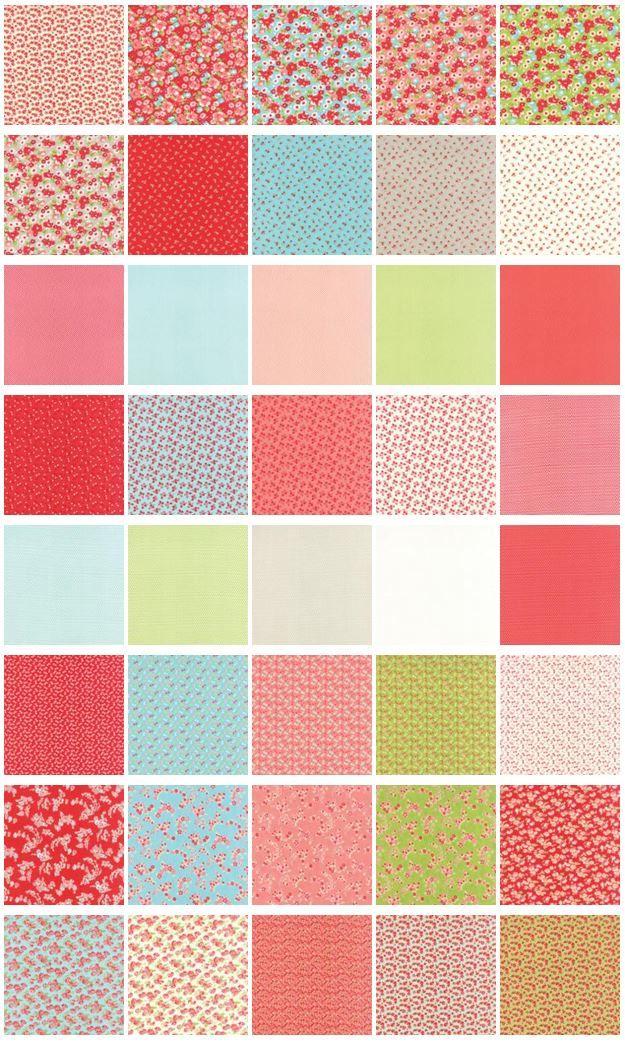 【楽天市場】【Little Ruby Layer Cake】moda カットクロス【送料無料】【moda レイヤーケーキ】【はぎれ】:studio peperin
