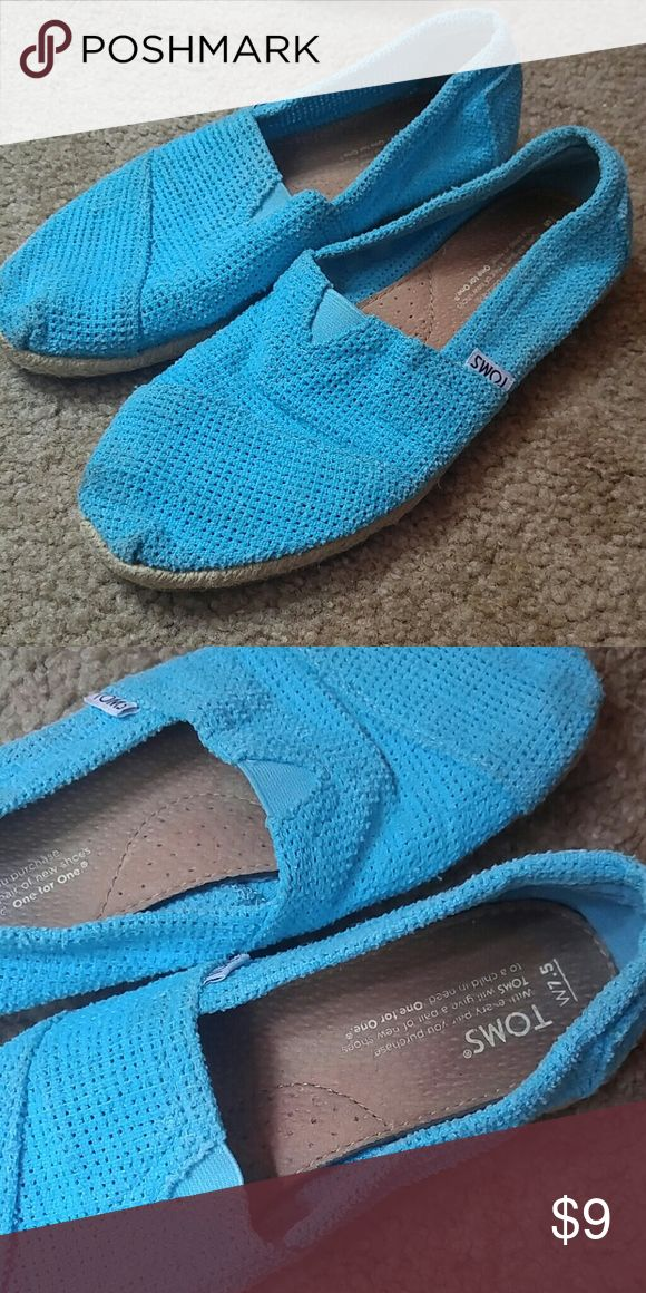 Blue Toms Pretty good condition. Look good. TOMS Shoes