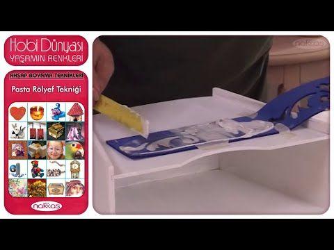 Ahşap Boyama Teknikleri - Pasta Rölyef Tekniği - YouTube