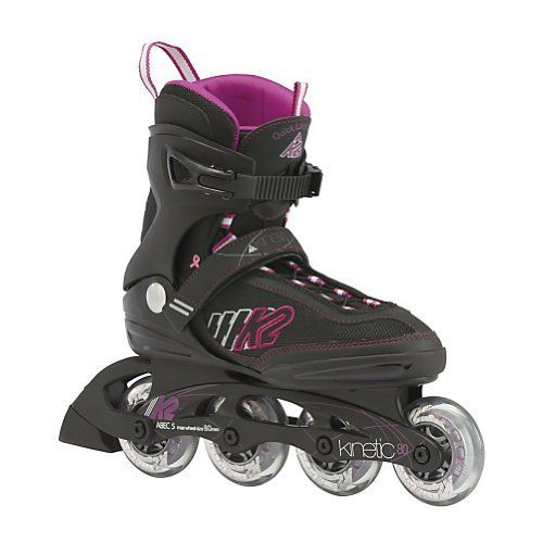 K2 Kinetic 80 Womens Inline Skates by K2. $99.95. The K2 Kinetic 80 Inline Skates will keep you comfortable and calm while you experience the fun of inline skating. If you are looking for style, performance and value look no further than the Kinetic 80. Kinetic 80 to a world of fun and exercise by slipping these comfy inline skates on. The K2 Kinetic 80 features the Original softboot which gives you the best fit and comfort on the market today. The Composite frame on thes...