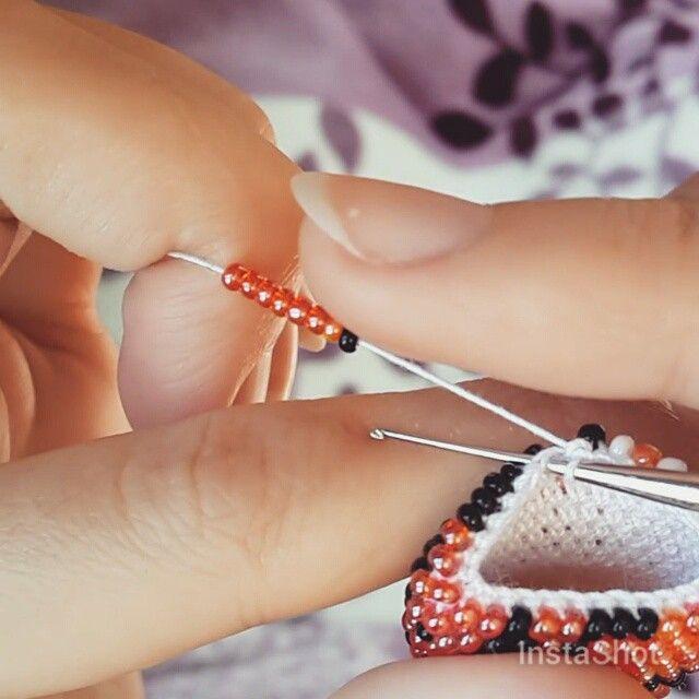 Dasha/Даша Разживина @deynacrochet Tiger. 28 beads i...Instagram photo | Websta (Webstagram)