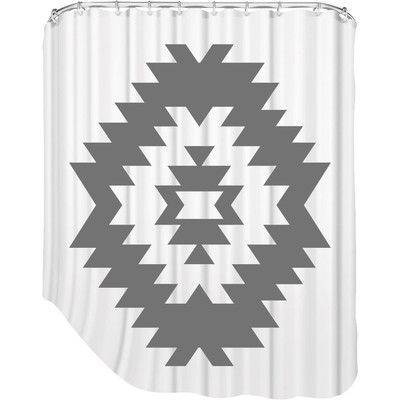 Brayden Studio Melinda Wood Southwestern Shower Curtain Color: