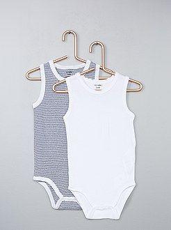 Sous-vêtement - Lot de 2 bodies sans manches - Kiabi  9c6631ac320