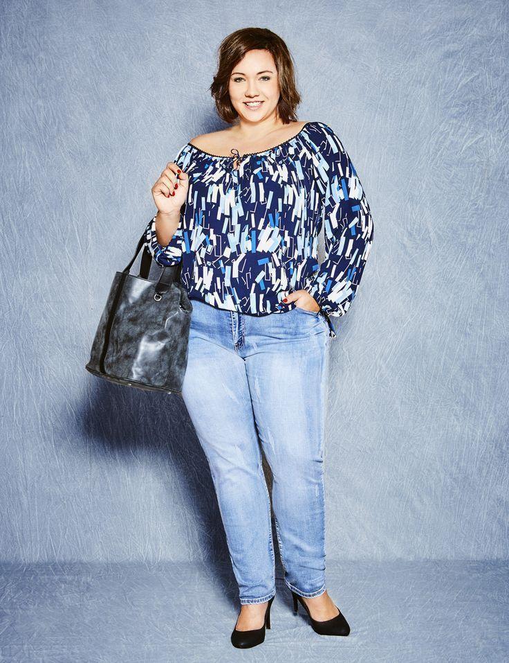 XXL-Bluse Mode für mollig Mode in großen Größe…