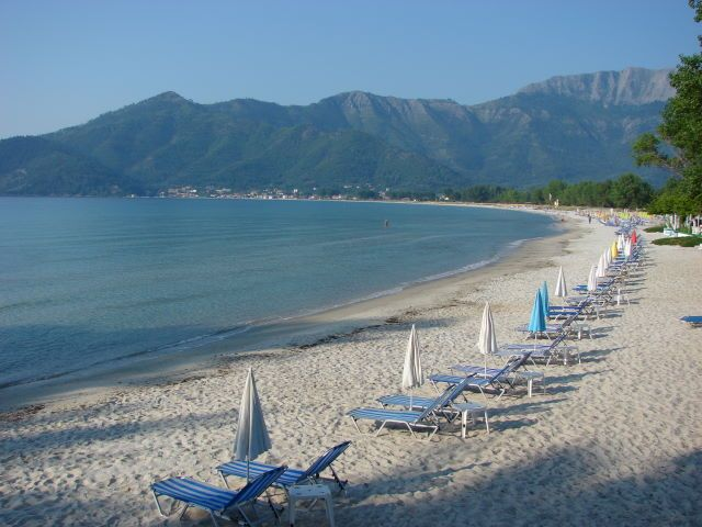 Golden beach Thassos island Greece