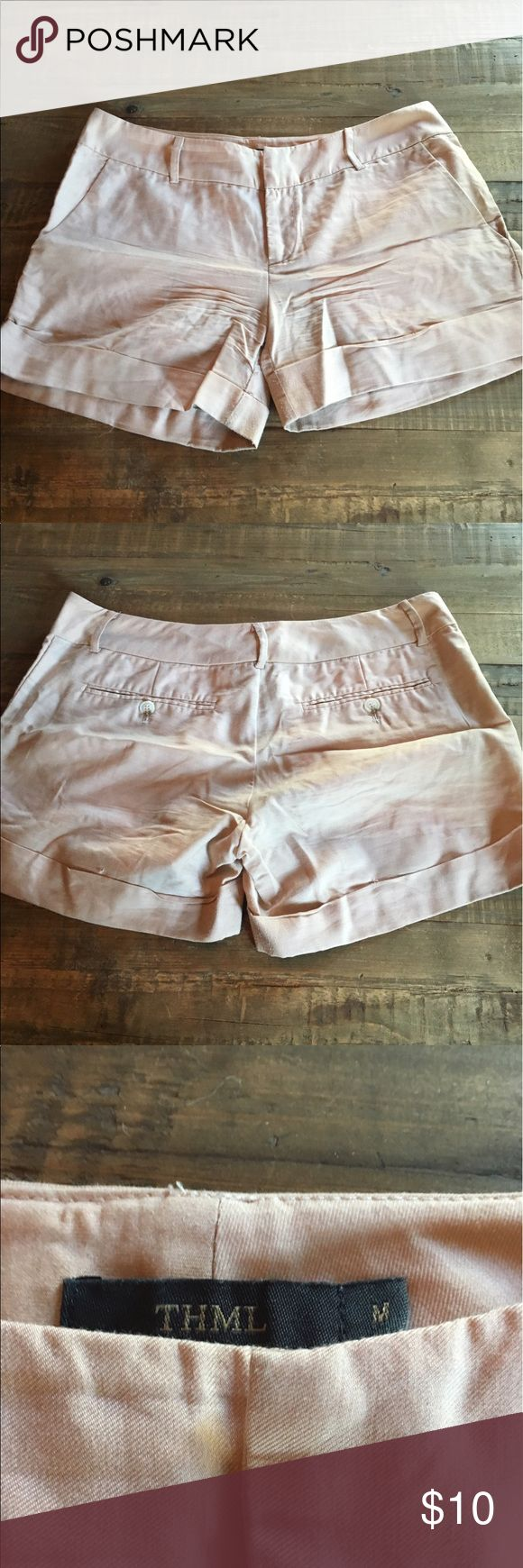 THML Shorts THML Cream Shorts THML Shorts