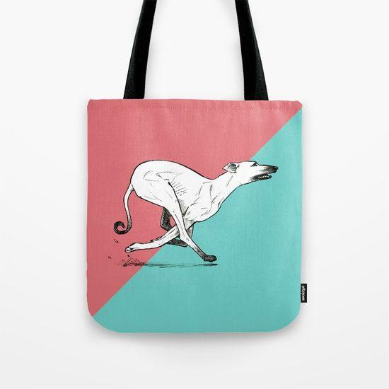 Run Greyhound! Tote Bag by Claudio Nozza Art | Society6