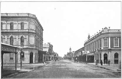Chapel Street, looking south from Commercial Road, about 1882