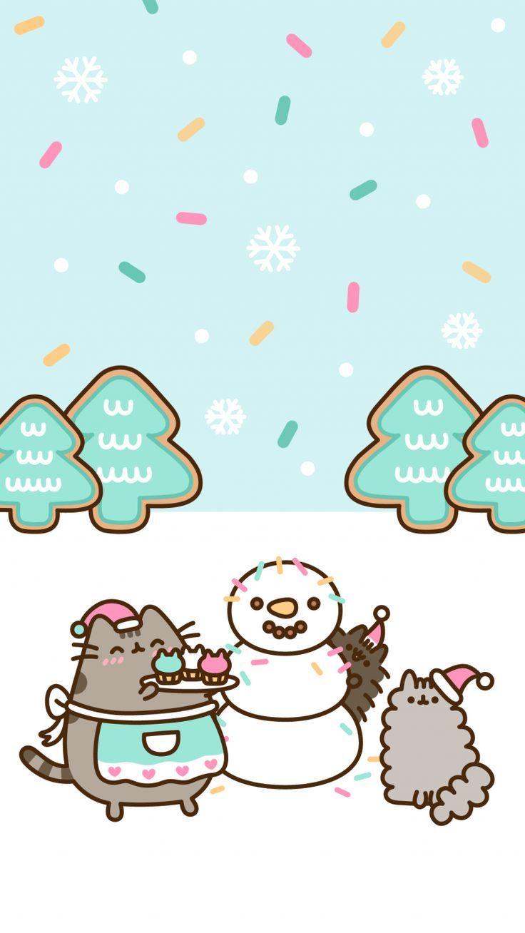 Fonds D 39 Ecran Exclusifs Pusheen Christmas Pour Android Et Iphone Gratuit Clairesblog Andro Chat Pusheen Fond D Ecran Telephone Noel Fond Ecran Noel