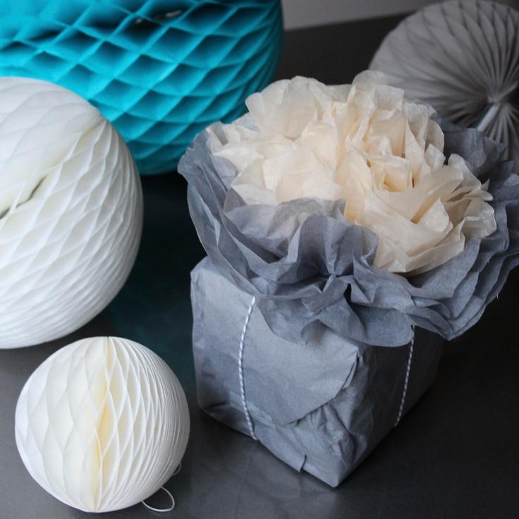 Pearl and Earl - Paper Bloom Medium Peony - Grey, £4.50 (http://www.pearlandearl.co.uk/paper-bloom-medium-peony-grey/)