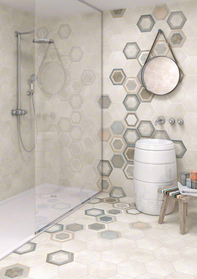 17 migliori idee su piastrelle da parete su pinterest - Piastrelle esagonali bagno ...