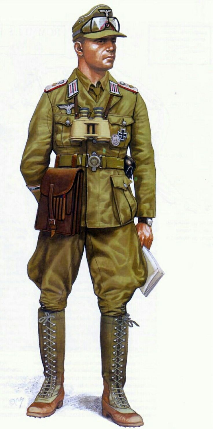 Afrika Korps, officer,1941 - pin by Paolo Marzioli