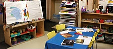 Classroom Layout Tips:  Arts & Crafts Center