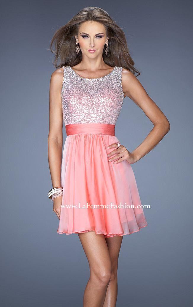Sophisticated designer pink cocktail dress