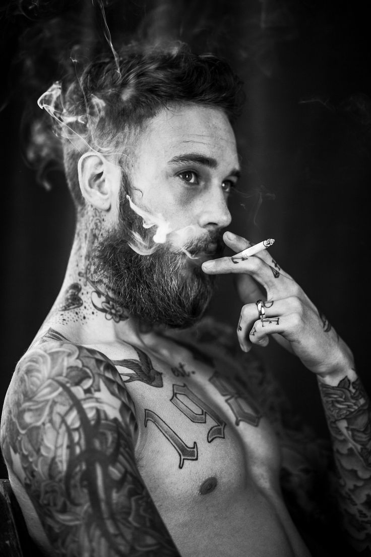 Billy Huxley by Tom Johnson. Never found smoking sexy but this guy....