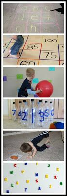 35 Educational Gross Motor Activities - Children learn best and more importantly retain what they've learned when it is combined with movement. Here is a list of 35 awesome ideas for combining gross motor activities with learning. Most of the ideas are geared towards toddlers through age six, but many of the games could be adapted to what your child is learning.