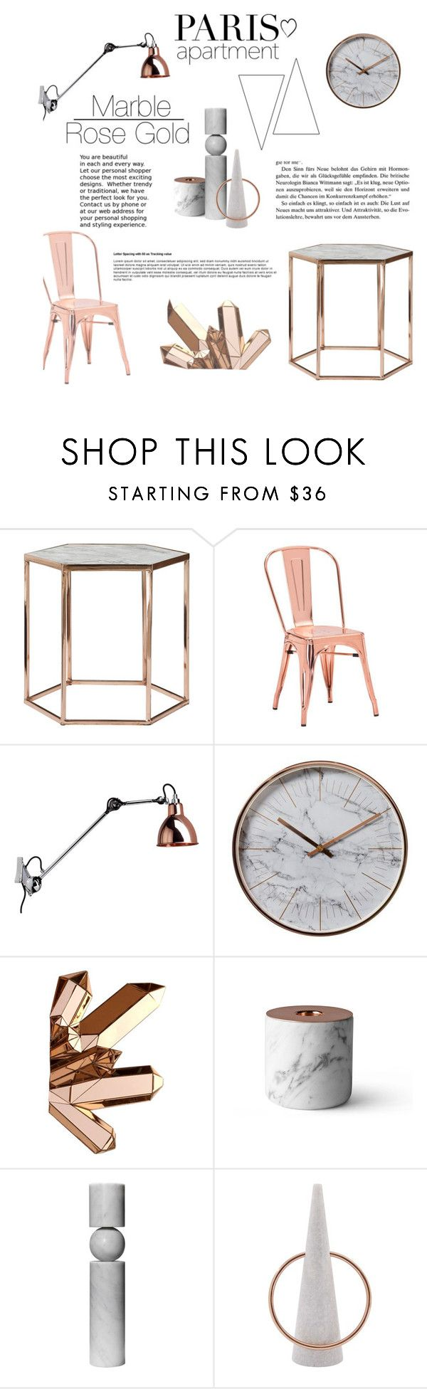 Buy marble rose gold silver and floral geo triangles rectangular -  Paris Apartment Rose Gold And Marble By Beckylopezx Liked On Polyvore Featuring