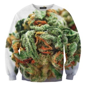 weed sweater. OH MY FUCKING GOD