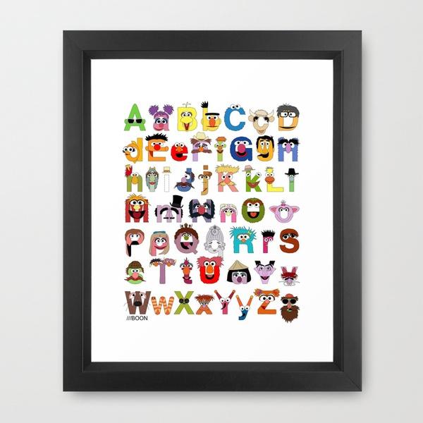 Sesame Street Alphabet by Mike Boon #kiddos