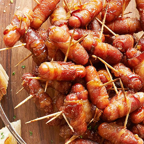 Party guests will happily eat these bacon bites all night long while waiting for the ball to drop.
