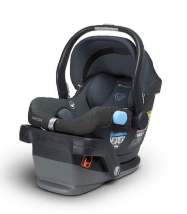 Meet the first and only car seat on the market with no fire retardant chemicals at all! The new Mesa offers an excellent option for families who want to reduce their child's exposure to chemicals: the Henry color theme, in Blue Marl, substitutes a naturally fire-resistant wool blend for the flame retardant chemicals typically used.