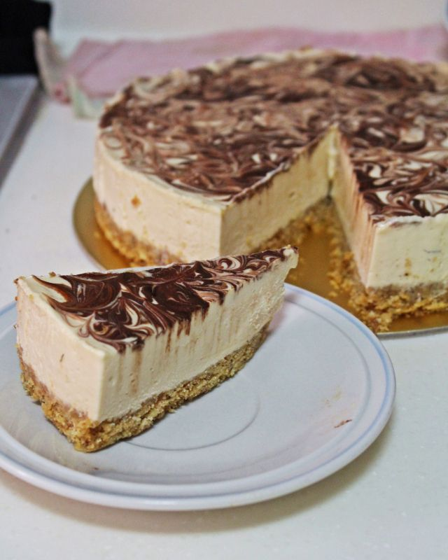 No bake amarula cheesecake - yum!