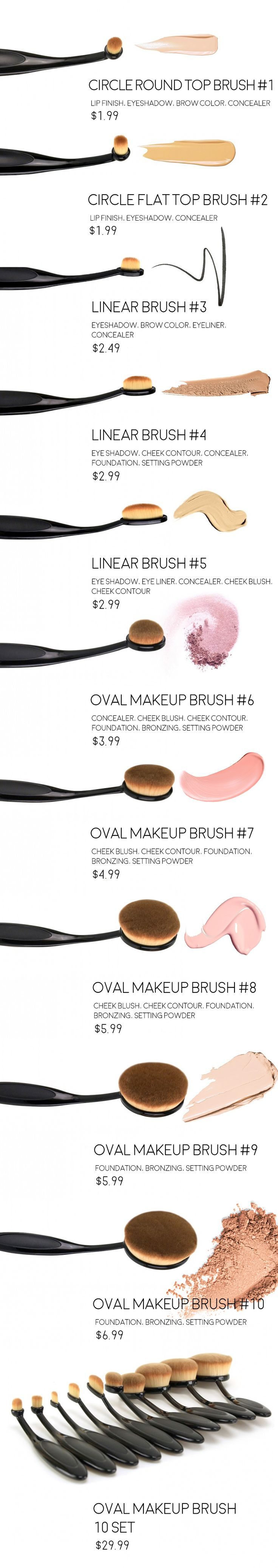 What all the buzz is about these makeup brushes? More fibres do more work with every pass across the surface of the skin!   http://www.ikatehouse.com/beauty-care/cosmetic-implements/cosmetic-brushes.html