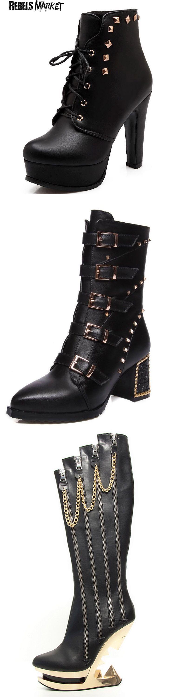 Shop punk goth boots at RebelsMarket.