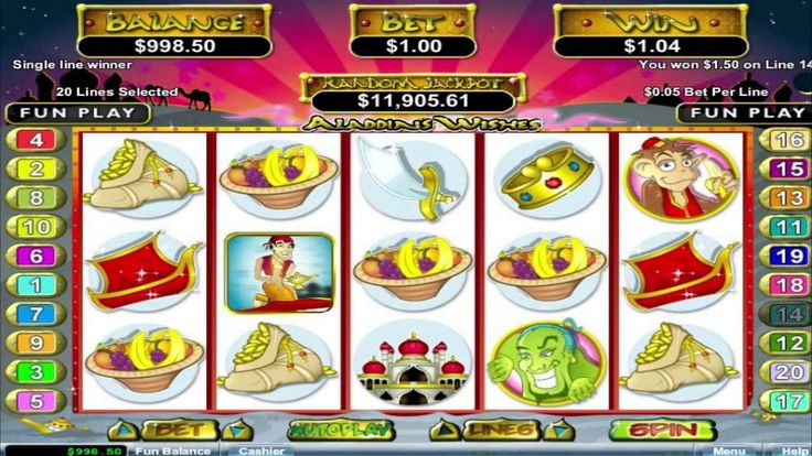FREE Aladdins Wishes ™ slot machine game preview by Slotozilla.com