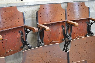 20 Auditorium Seating Antique Movie Theater Chairs Victorian Cast Iron Hollywood | eBay