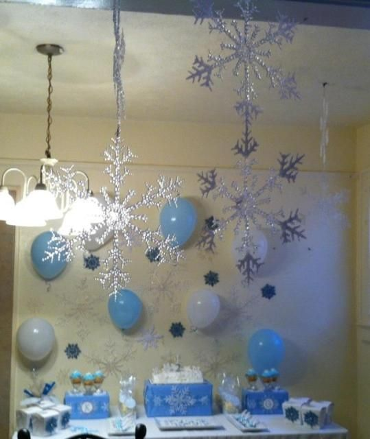 Winter Wonderland Snowflake Birthday Party Ideas | Photo 4 of 21 | Catch My Party