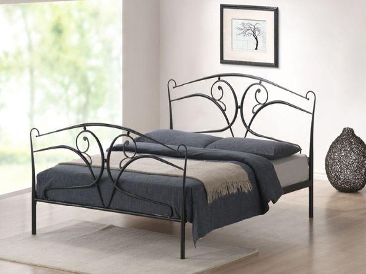 celine iron detailed black bed frame beds from fads - Black Metal Bed Frame