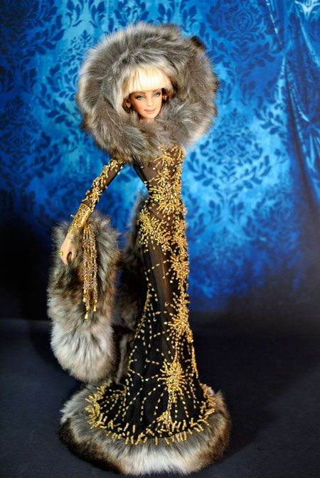 Looks cozy and stunning! ooak barbie by Magia2000