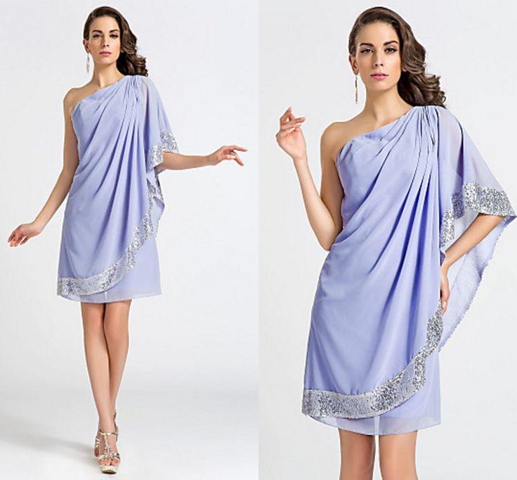 2016 New Fashion Lavendel Schulter Cocktailkleid Mantel/Spalte Pailletten Party/Urlaub Kleider Plus Größe //Price: $US $70.20 & FREE Shipping //     #cocktailkleider