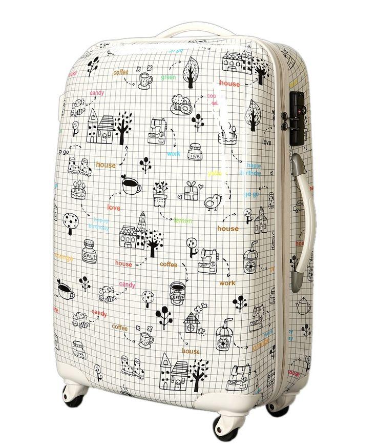 129.61$  Buy now - http://ali5n6.worldwells.pw/go.php?t=1834580115 - YISHIDUN 2016 New men suitcase fashion cartoon women universal wheels travel trolley bags rolling luggage bag valiz 20 24 inch 129.61$